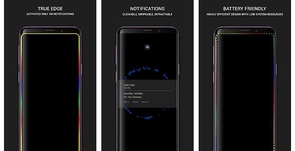True Edge lighting s10 android