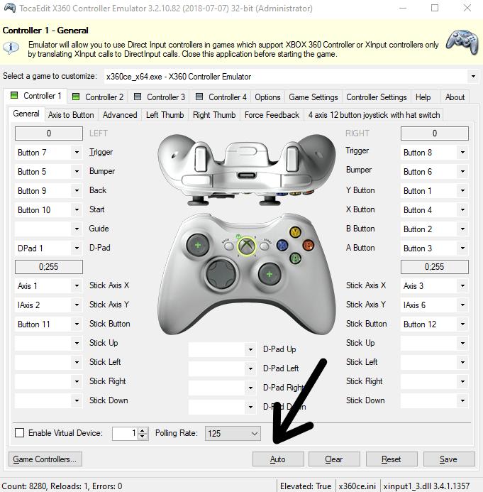 X360 Controller Emulator Test