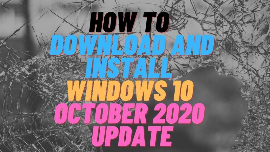 Install Windows 10 October Update