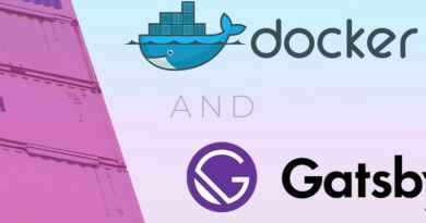 Docker Setup For GatsbyJS