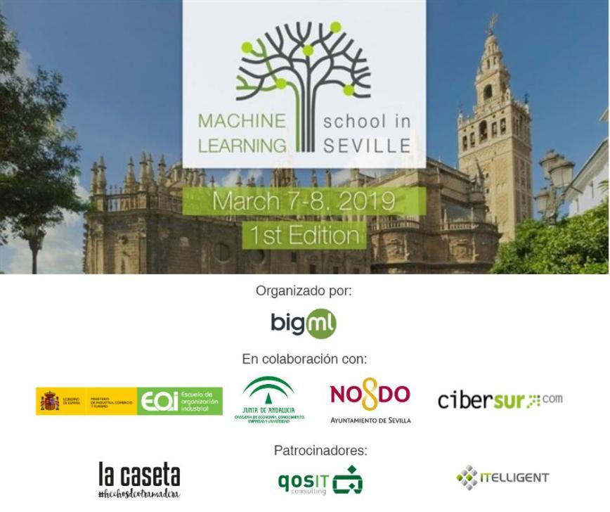Machine Learning School en Sevilla 2019 cartel