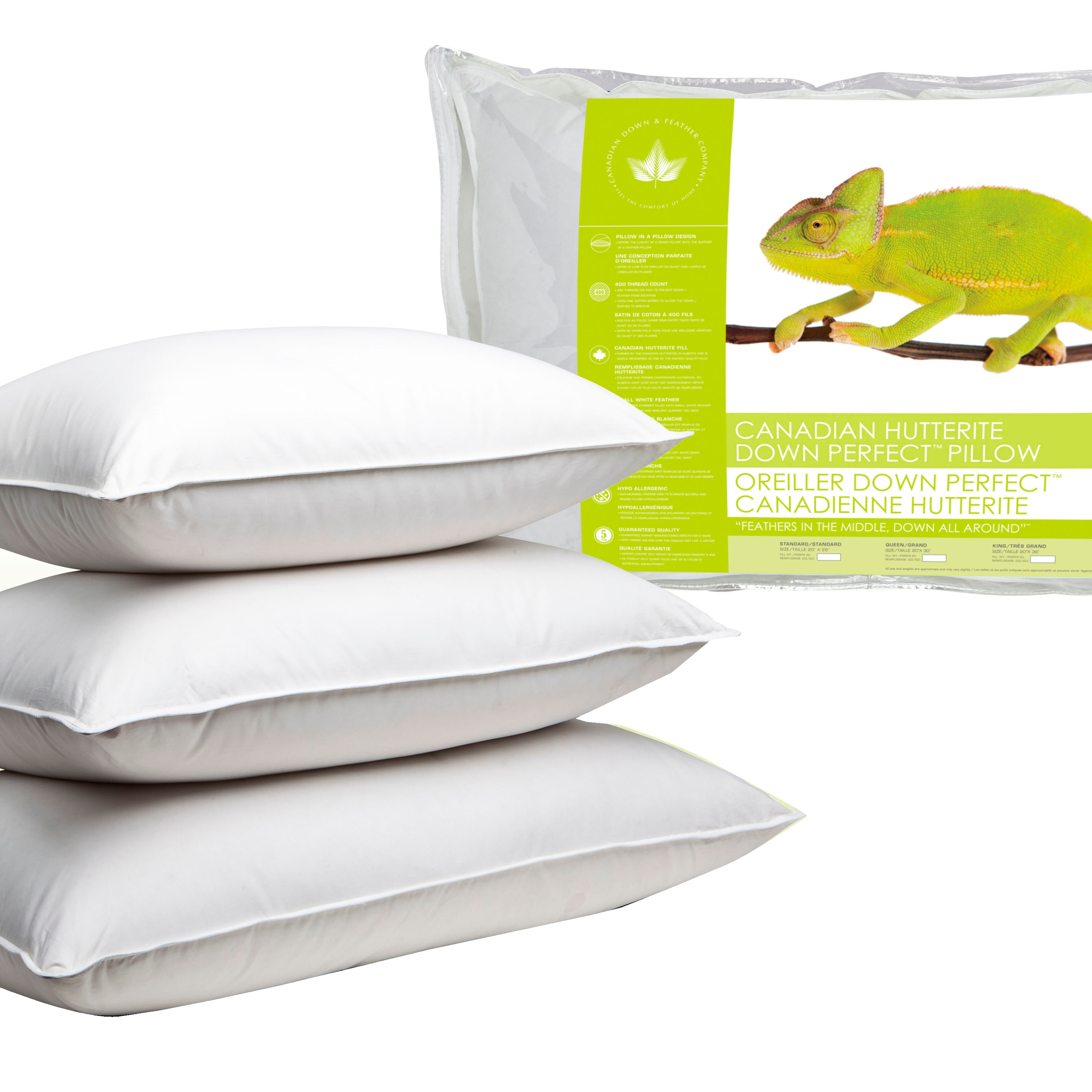 canadian down feather company hutterite down perfect pillow medium