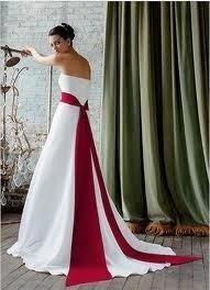 Davids Bridal Style T8778 Comes With Ivory Amp Red Sash