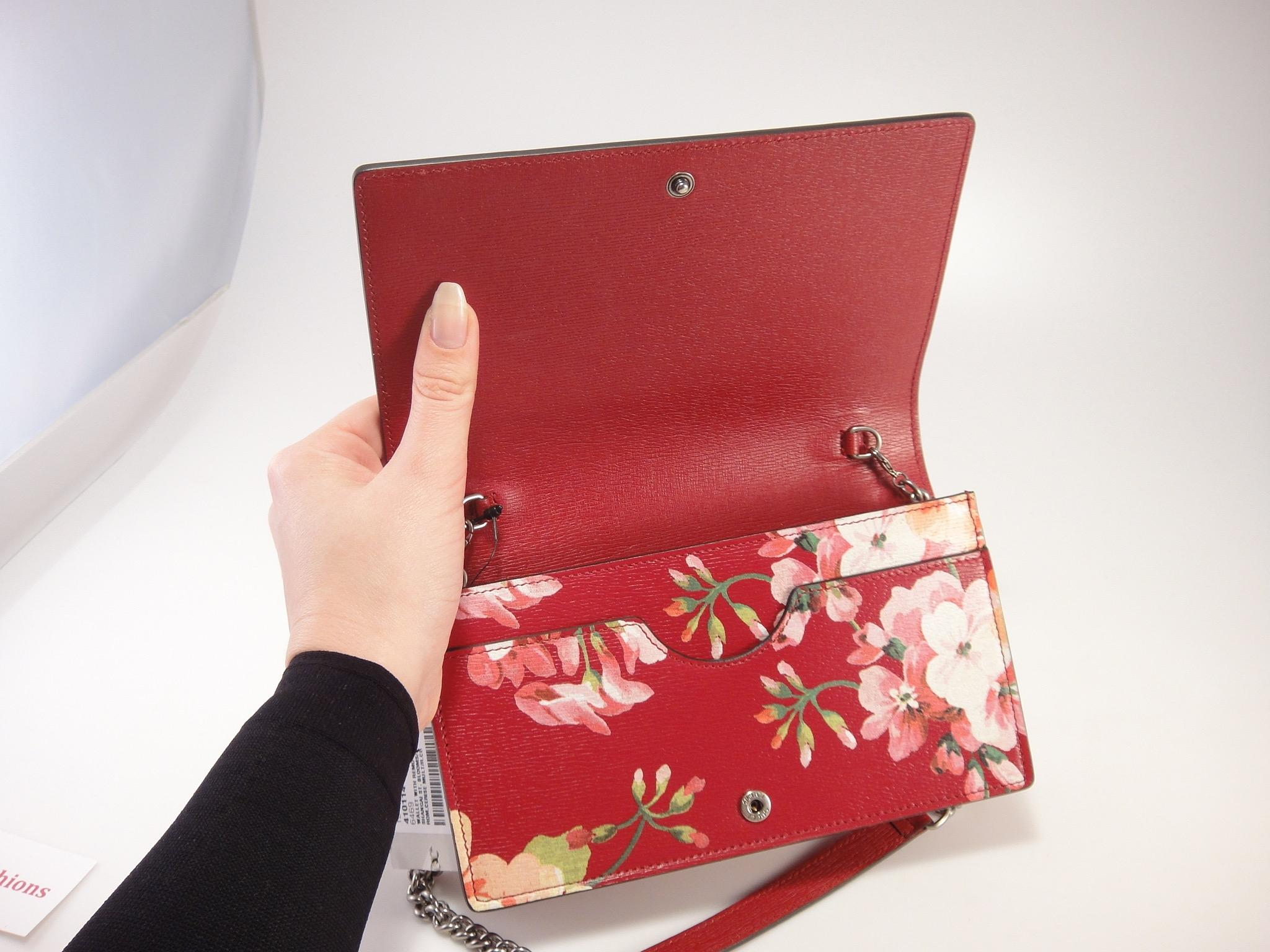 f090b1dcf32d96 Gucci Blooms Flower Shanghai Blooming Wallet On Chain Purse #853