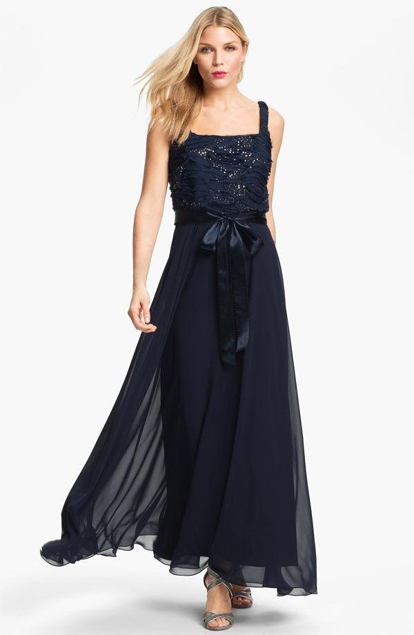 Blue Mother Of The Bride Dress Patra