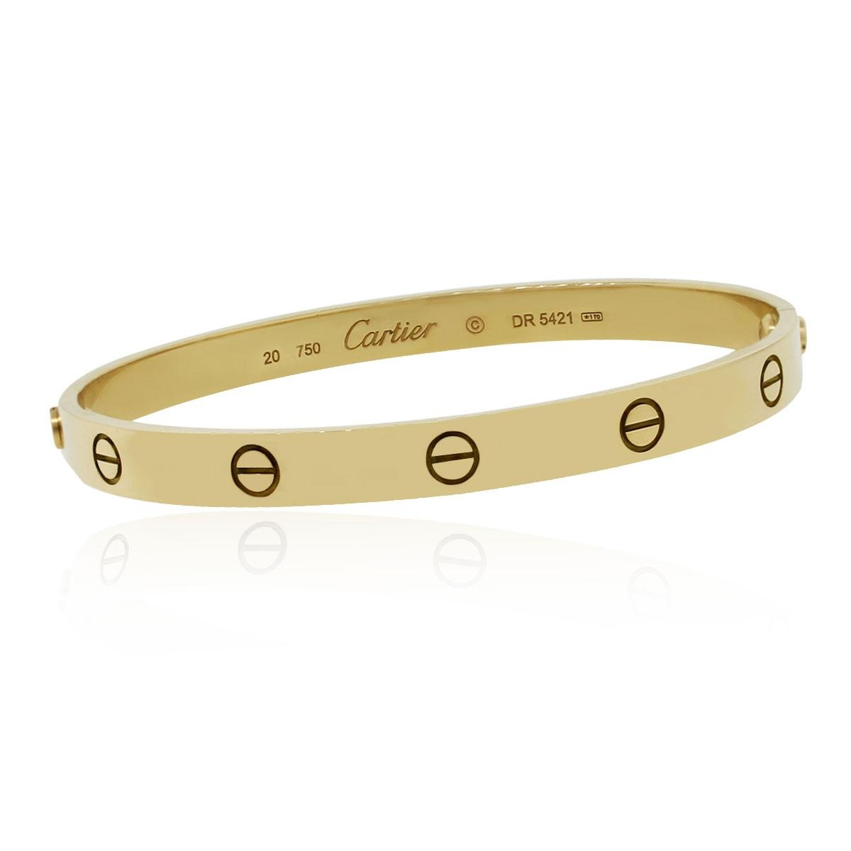 Cartier Love Bracelets   Up to 70  off at Tradesy Cartier Cartier 18k Yellow Gold Size 20 Love Bangle