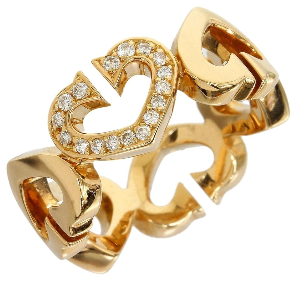 Cartier Yellow Gold 18k C Heart Diamond Ring   Tradesy Cartier Cartier 18K Yellow Gold C Heart Diamond Ring