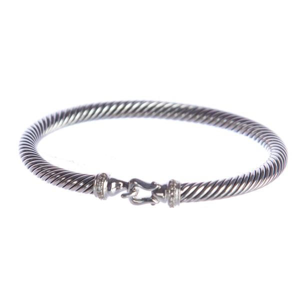 David Yurman Jewelry and Accessories on Sale   Up to 70  off at Tradesy David Yurman Cable Buckle Bracelet with Diamonds 5mm  550 NWOT