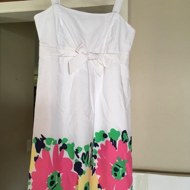 6bea09b59f191b Lilly Pulitzer White With Pink Yellow Blue Flower Print Bottom