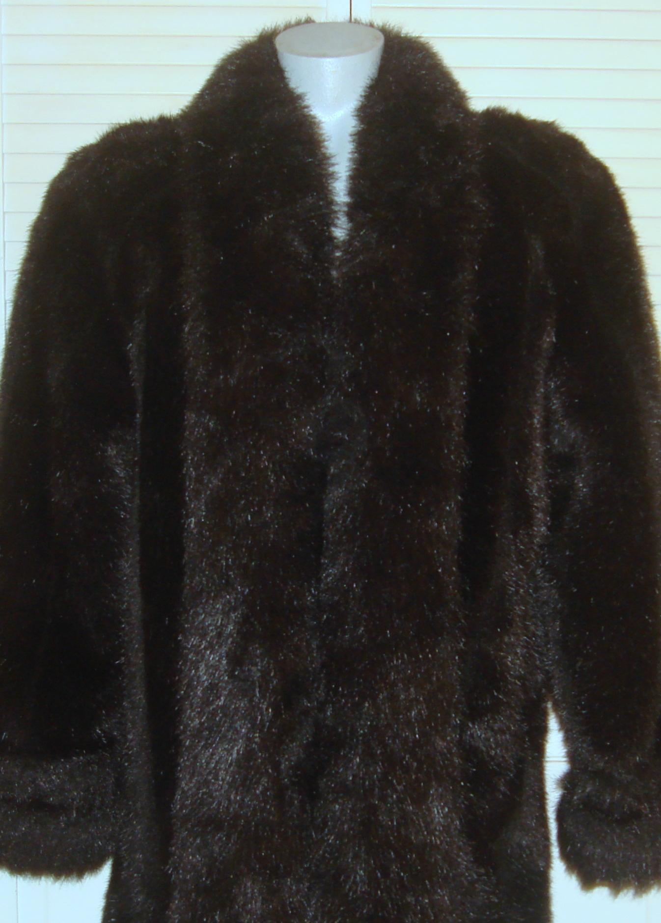 Brown Vintage Full Length Faux Fur Size 10  M    Tradesy Monterey Fashions Coat      Monterey Fashions Coat