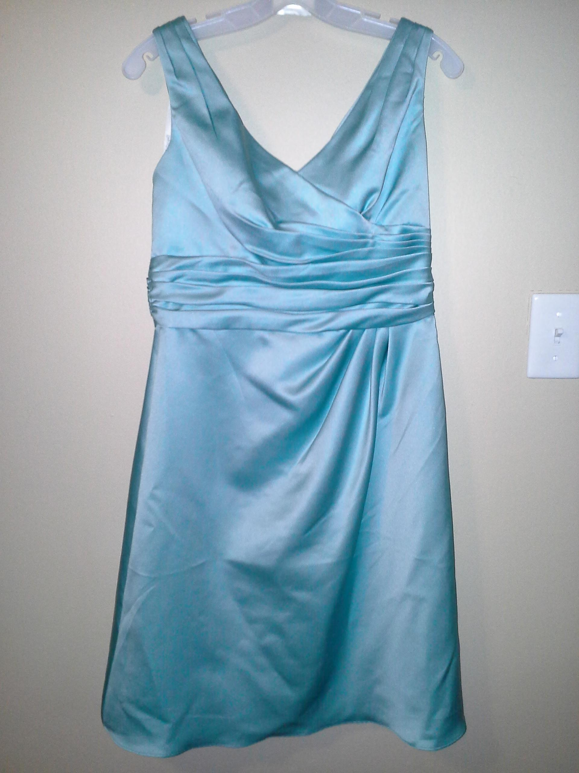 David s Bridal Light Blue F14823 Formal Bridesmaid Mob Dress Size 8     David s Bridal Light Blue F14823 Formal Bridesmaid Mob Dress Size 8  M