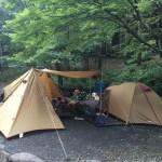 10/7~10の三連休で山のふるさと村でファミリーキャンプ!