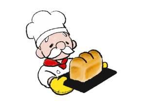 パンを焼くおじさん
