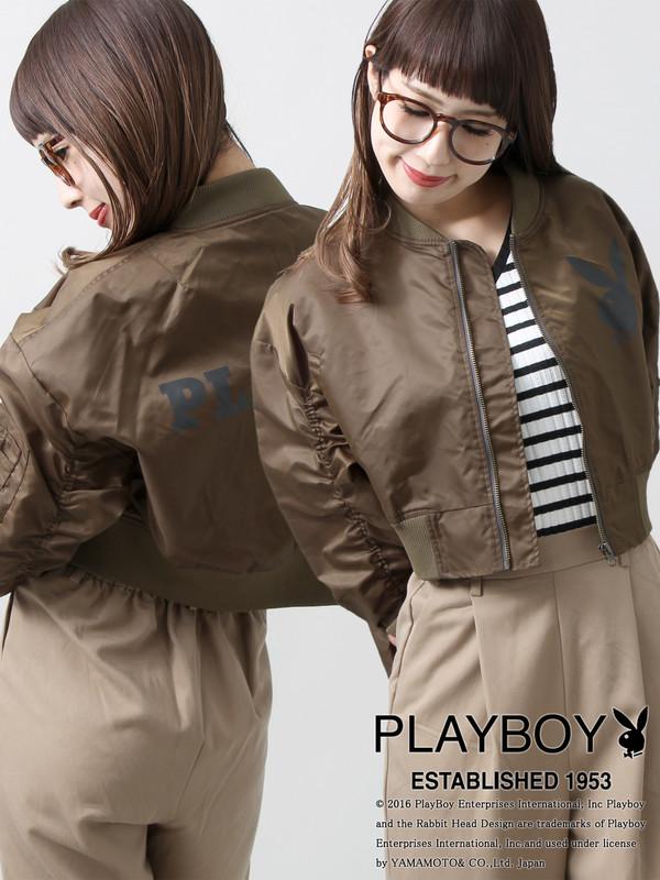 WEGO|PLAYBOYコラボMA-1(カーキ)
