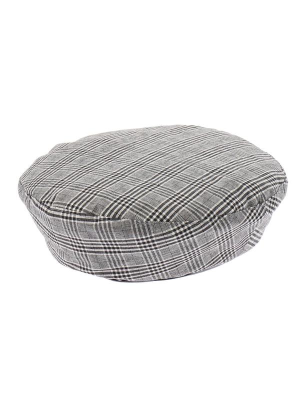 WEGO/チェックベレー帽(柄1)