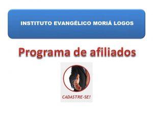 Programa de Afiliados Moriá Logos