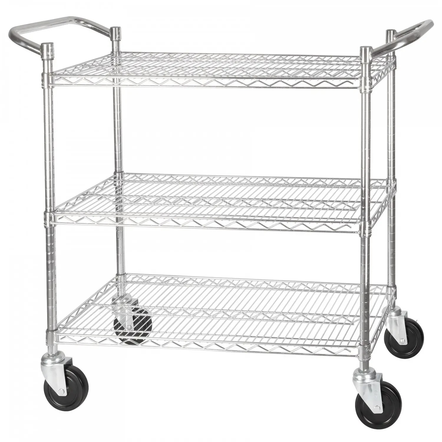 Winco Vccd B 3 Tier Wire Chrome Plated Shelving Cart