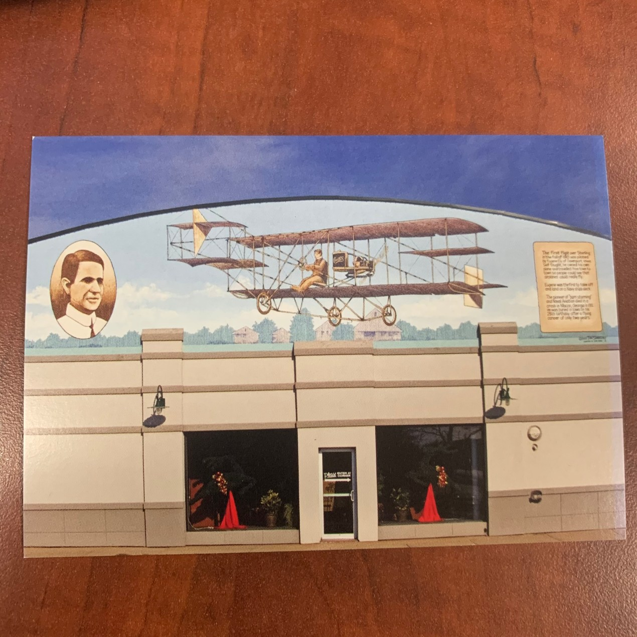 Postcard - First Flyover mural