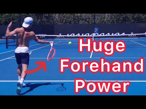 Huge Forehand Power (Copy The Diego Schwartzman Tennis Forehand)