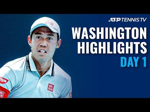 Nishikori Kicks off Campaign: Sock & Nishioka Battle to face Nadal | Washington Day 1 Highlights