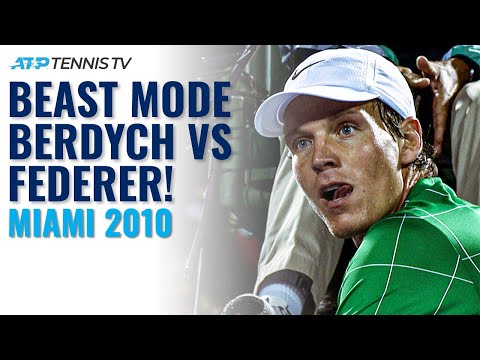 BEAST MODE BERDYCH! Tomas Berdych EPIC Finish To Defeat Federer In Miami 2010