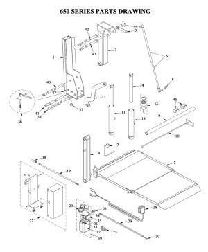 Liftgate Diagrams  Tommy Gate Liftgate Parts & Diagrams
