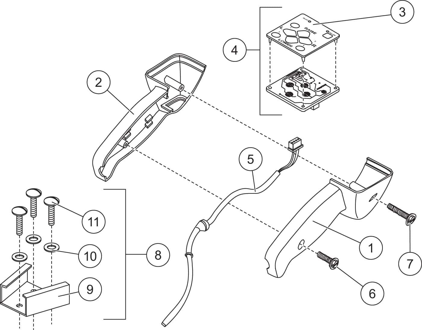 Xblade fish stik hand held control diagram
