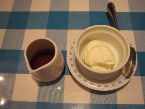 ホイップバターと蜂蜜