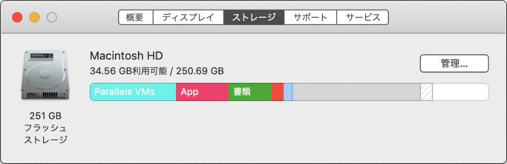 Macの容量表示