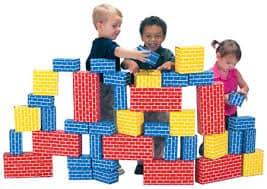 Kids Playing Blocks Image