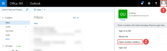 Enable Out of Office Shared Mailbox - Open Shared Mailbox