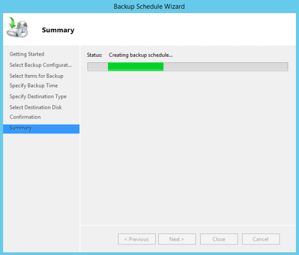 Configure Active Directory Backup - Schedule Backup 13