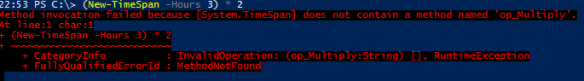 PowerShell Time Multiplication - Multiplication Error