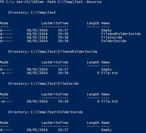 Get Empty Folders PowerShell - My Test Folder