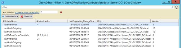 Active Directory Metadata PowerShell - PowerShell Trusts