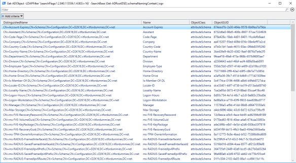 Change Active Directory Copy Behavior - Attribute List