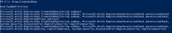 Edit Remote Registry Key PowerShell - CreateSubKey