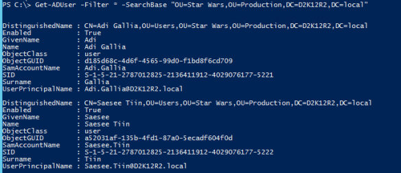 Active Directory PowerShell ADSI ADSISearcher - Active Directory Module