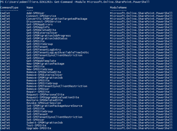 Connect Office 365 Services PowerShell -SharePoint Online Cmdlets