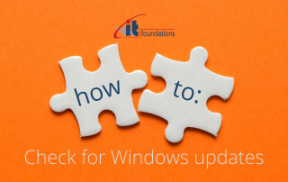 How to check for windows updates