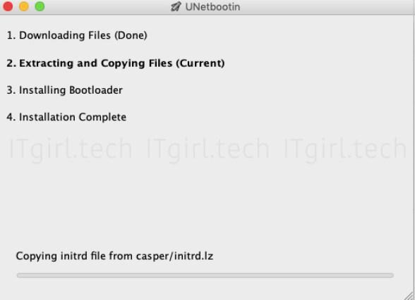 burn an ISO on Mac using UNetbootin