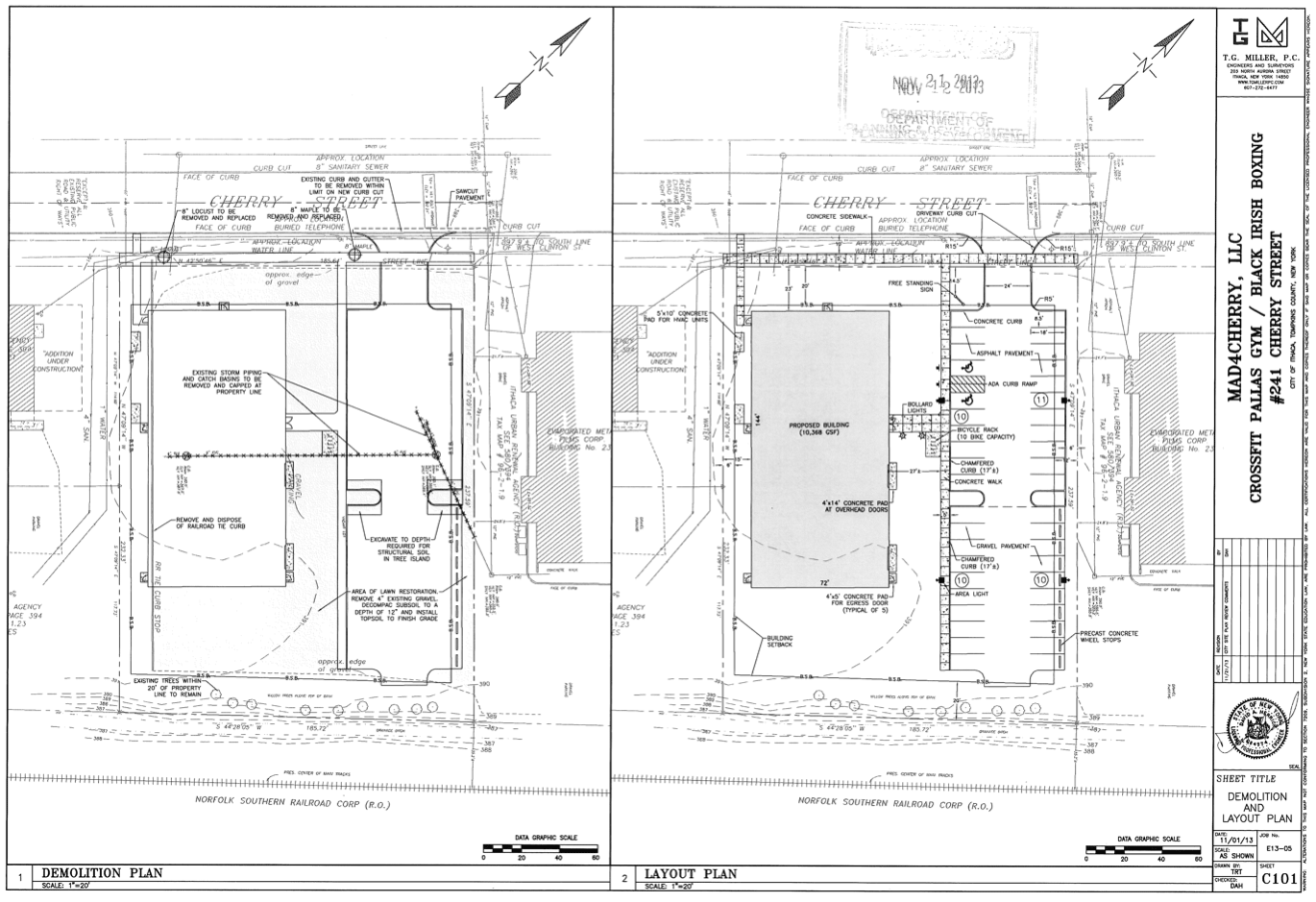 Crossfit Cherry Street Site Plan