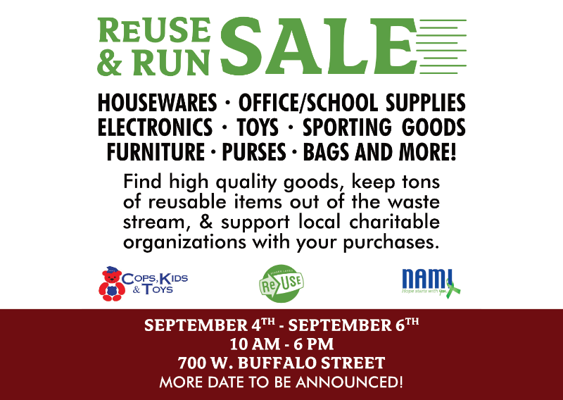 Check Out The ReUse & Run Sale This Weekend!
