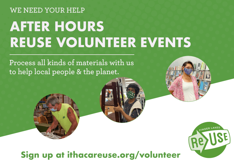Evening Volunteer Events at Finger Lakes ReUse