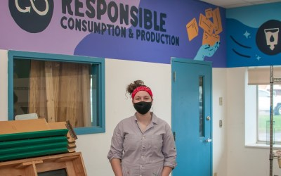 Mural Project at Ithaca ReUse Center Highlights United Nation Sustainable Development Goals