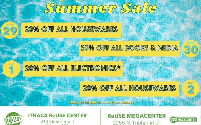 Leap Into Summer Sale At Ithaca ReUse Center & ReUse MegaCenter