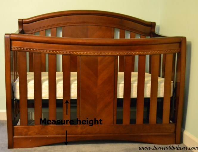 For Side Panels Measure Across The Crib To Get Length Of Also Height From Mattress Floor