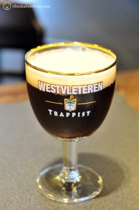 A glass of Westvleteren XII at In De Vrede