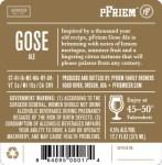 Pfriem Gose back label