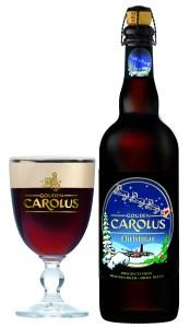 Gouden Carolus Christmas glas fles 75cl